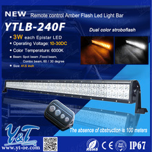 Higher Effiency 41.5'' 240w White and Amber Lamp Color Emergency/Warning Flash Strobe LED Light Bar