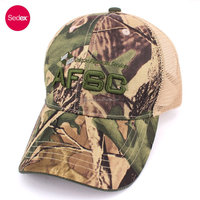 SEDEX audit 100% polyester camo cap promotional mesh cap