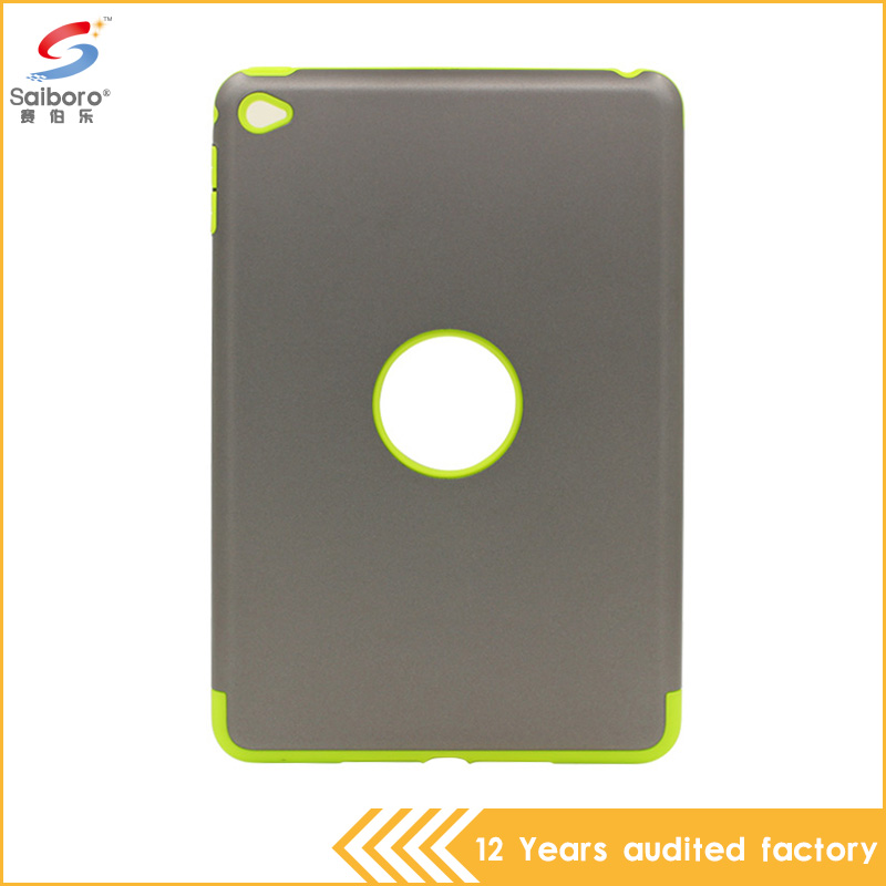 Phone case manufacturer wholesale fashionable tpu pc armor shock-resistant defender case for iPad mini 4
