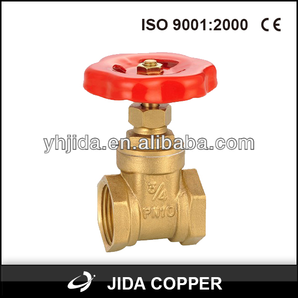 Medium Pressure 4 inch Cast Iron Handle Brass Stem Gate Valve pn16