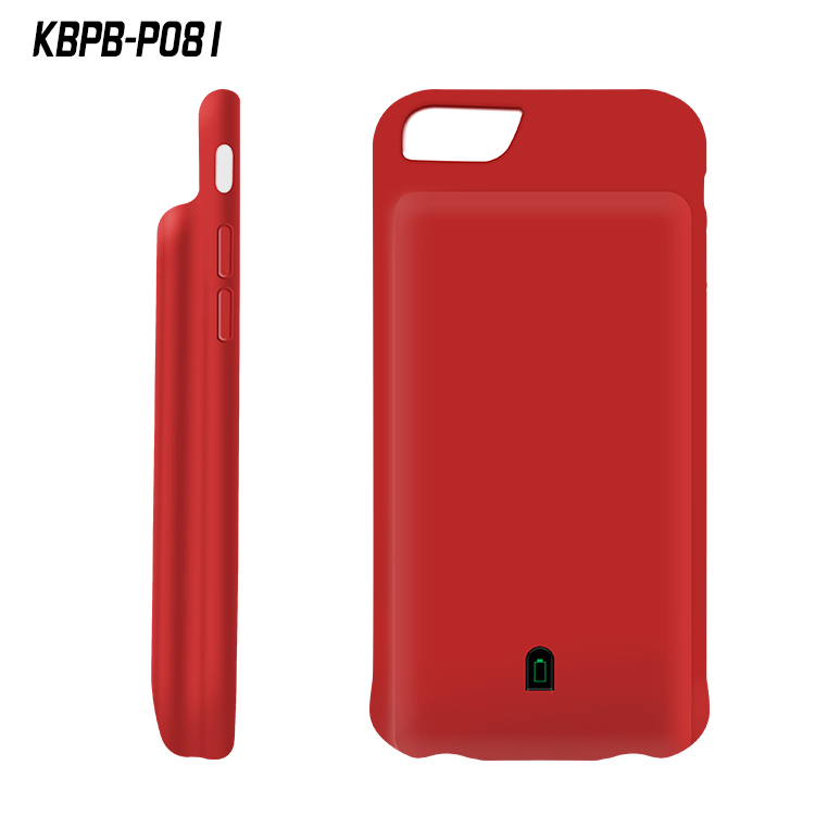 Kingberry battery case 8000mah portable battery pack case for iPhone 7/6/6s plus P081 support audio output