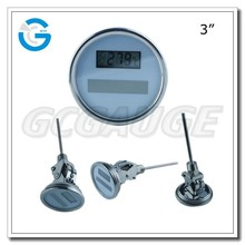 High quality stainless steel solar digital house thermometer
