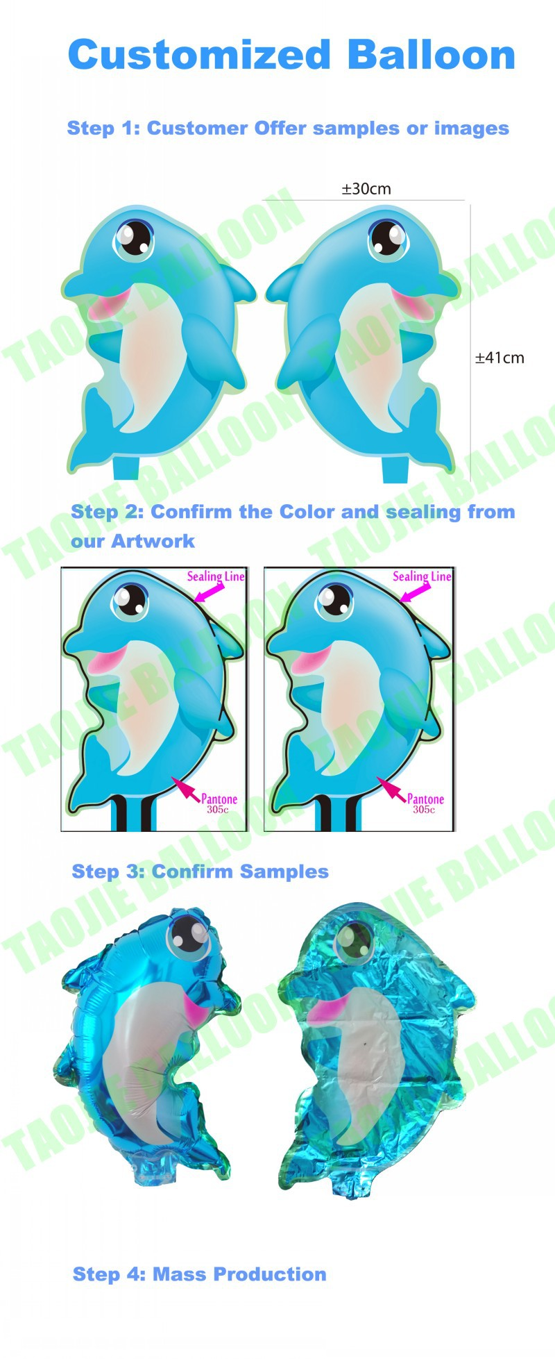 Customized Dolphin shape Advertising promotion Balloon