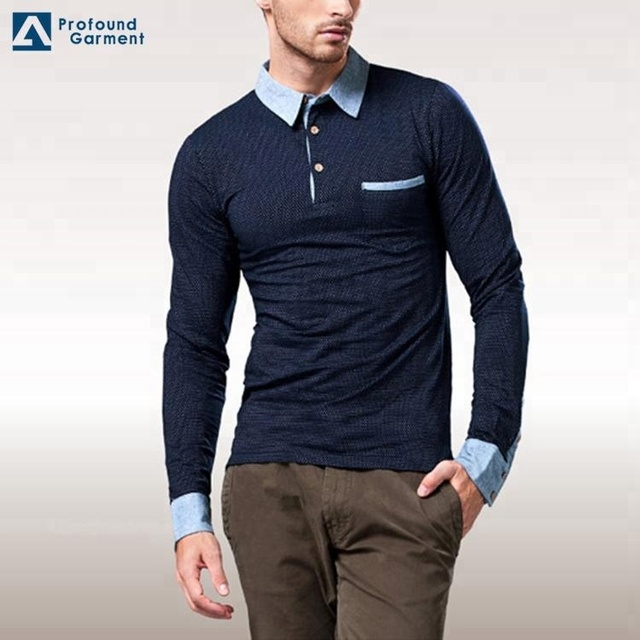 New Fashion Dri Fit Free Sample Long Sleeve Polo shirt