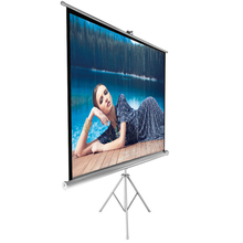 Office cleaning projector screen with tripod
