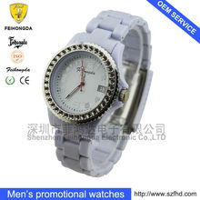 plastic case acryl brand color silicon quartz watches for ladies or girls or woman