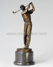Best selling abstract bronze golf statue