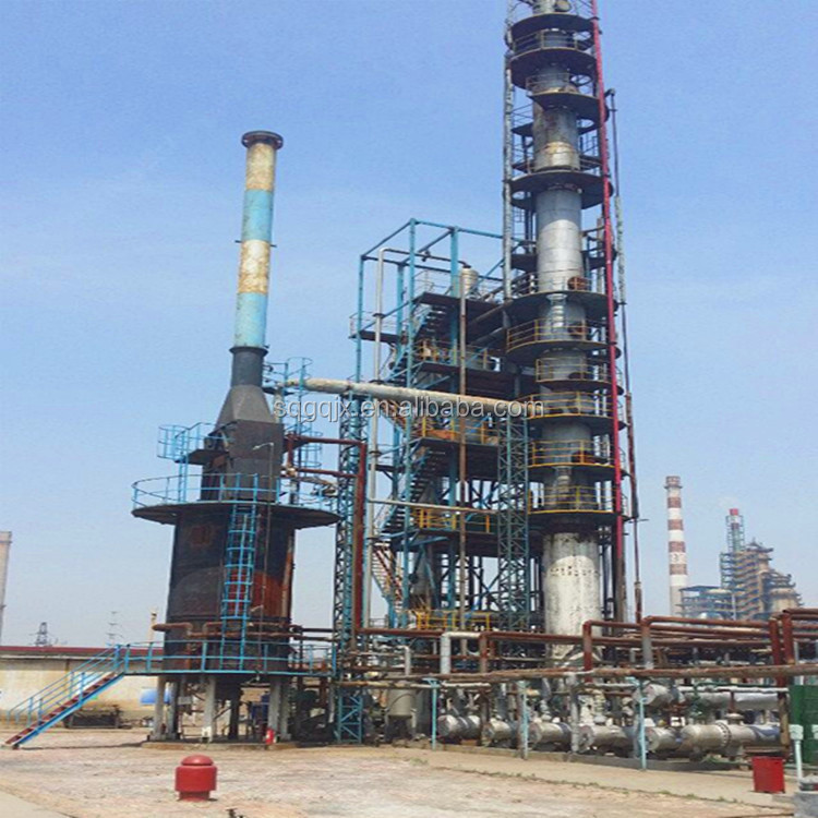 waste black engine oil recycling to diesel distillation plant