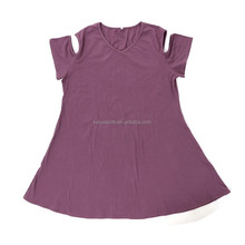 Summer fashion wholesale breathable casual women dresses off-the-shoulder frock
