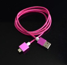 Classic Fabric Braided USB Data Cable /Charging Cable For Smart Phone