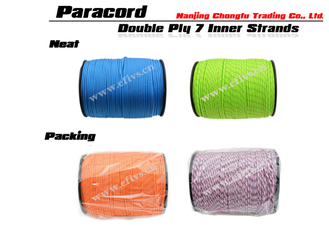 2016 High quality 7 strands paracord 550 survival kit nylon military rope for paracord bracelet camps equipment wholesale