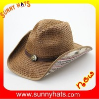Fashion Summer Ladies Newest Style Make A Paper Cowboy Hat Wholesale