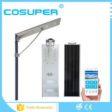 60w 80w 100w automatic solar led street light with motion sensor