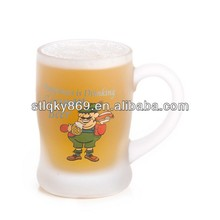 sublimation glass beer mug personalized beer mug glass with handles