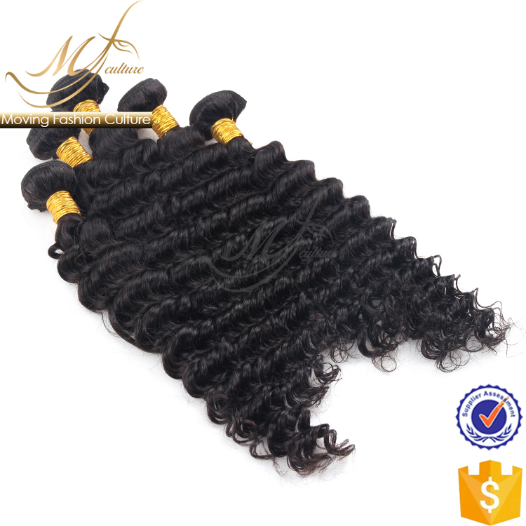 Manufacturer supply deep wave raw indian hair directly from india