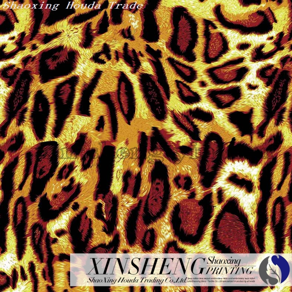 classic leopard line design printing paper of fashion clothing and decorative scarf