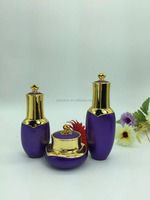 new style 100ml gold crown acrylic lotion bottle, personal care lotion bottle