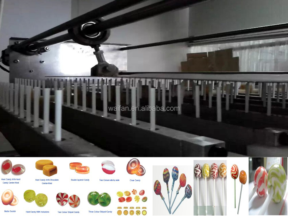 Flat/hard round colorful lollipop candy manufacturing machine