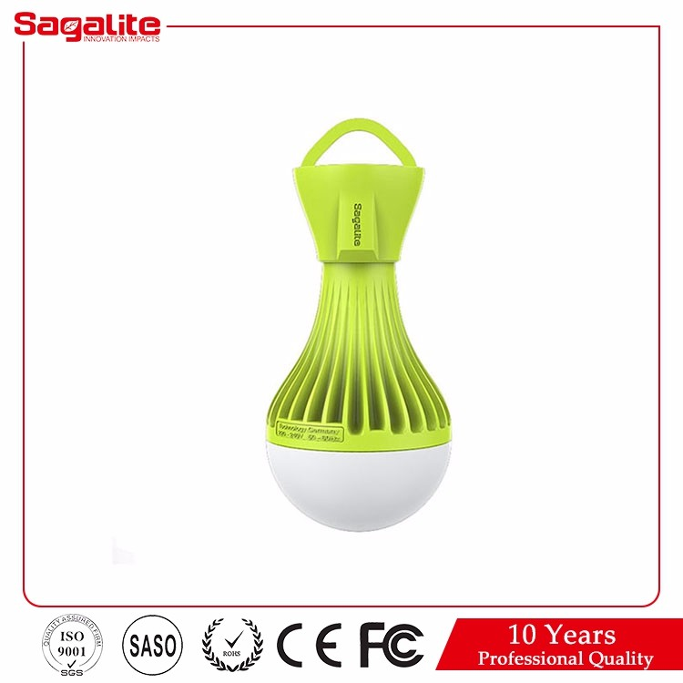 China energy saving rechargeable emergency led bulb 8w with built-in battery camp tent light bulb