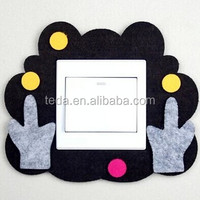 lovely small animal shape wall ligeht felt sticker