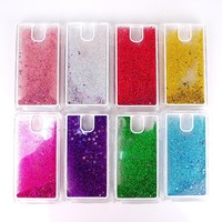 Sparkling stars flash powder hourglass design mobile phone PC case for Samsung galaxy Note 3