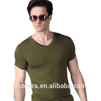 Popular Promotional Gift Bamboo Fabric T Shirt