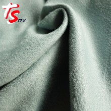 2017 new product 100% polyester faux shearling suede fabric