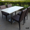 4 seats solid surface fastfood tables, fast food table and chairs