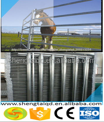 2015 Haotian factory direct used cattle yard / metal horse fence panel