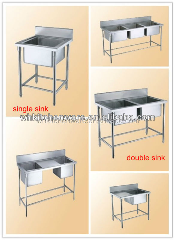 Wholesales 2-tier heavy duty used in restaurant kitchen sink table