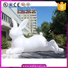 Custom advertising giant inflatable led rabbit/inflatable cartoon/inflatable easter bunny with led light for sale