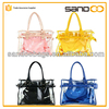 lady waterproof pvc hand bag