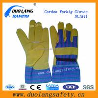 youth garden gloves touch screen Goatskin leather gardening gloves