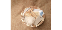Delicate 5pcs wooden bath spa set