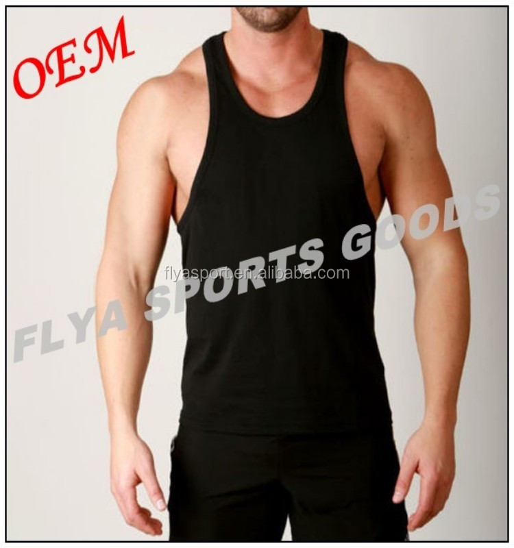 2018 OEM made in China hot sale muscle tank top vest stringer for men