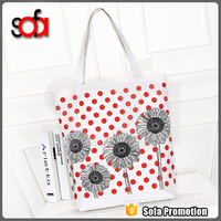2015 High quality Cotton Custom Reusable Shopping Eco Plain Tote Grocery Canvas Bag