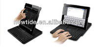2013 hot sell bluetooth wireless keyboard laptop keyboard with stand and case (NT-EI011)