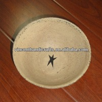 Festival decor primitive shabby wooden bowl with star