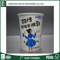 6oz Single Wall Style PLA coated paper cups yogurt packaging