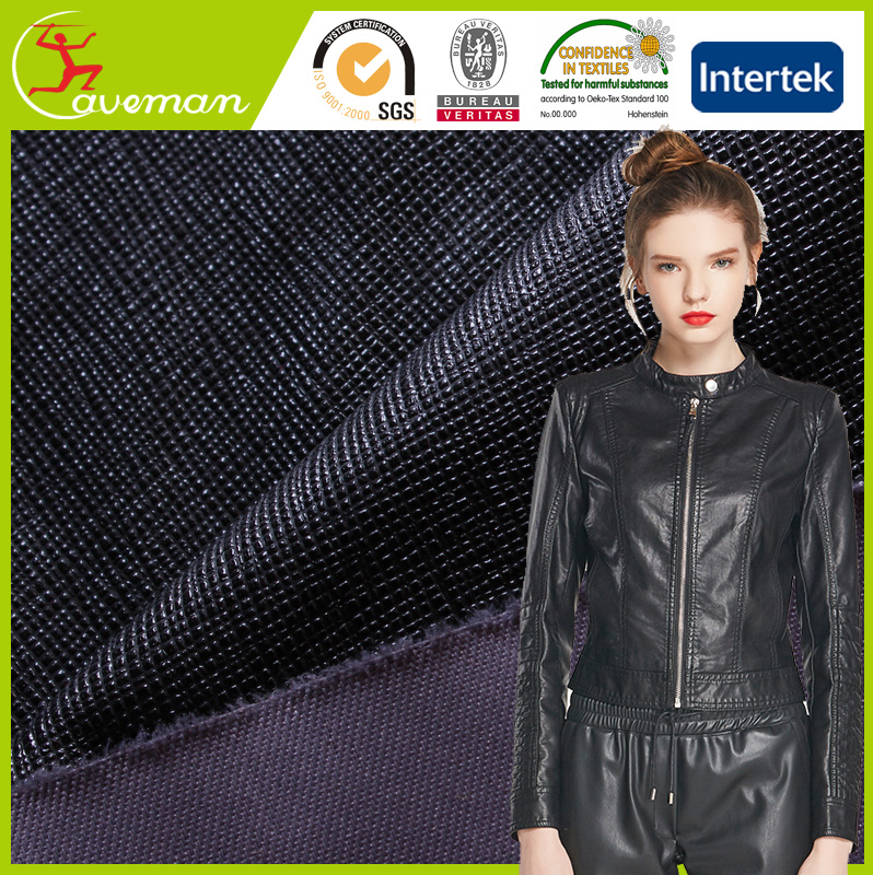 190T Twill FD Polyester Pongee Fabric Release Paper Coated for Leather Jackets bark silk
