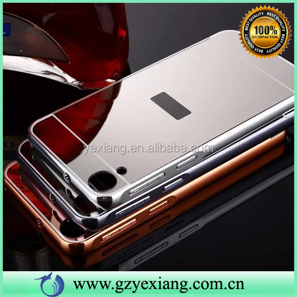 Hot Selling Luxury Mirror Skin Aluminum Bumper Case For HTC 820 Case And Covers