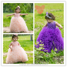 Ellie's Bridal new style lilac draped frock for girls wedding party, 2015 brand new ball gown dating party dress