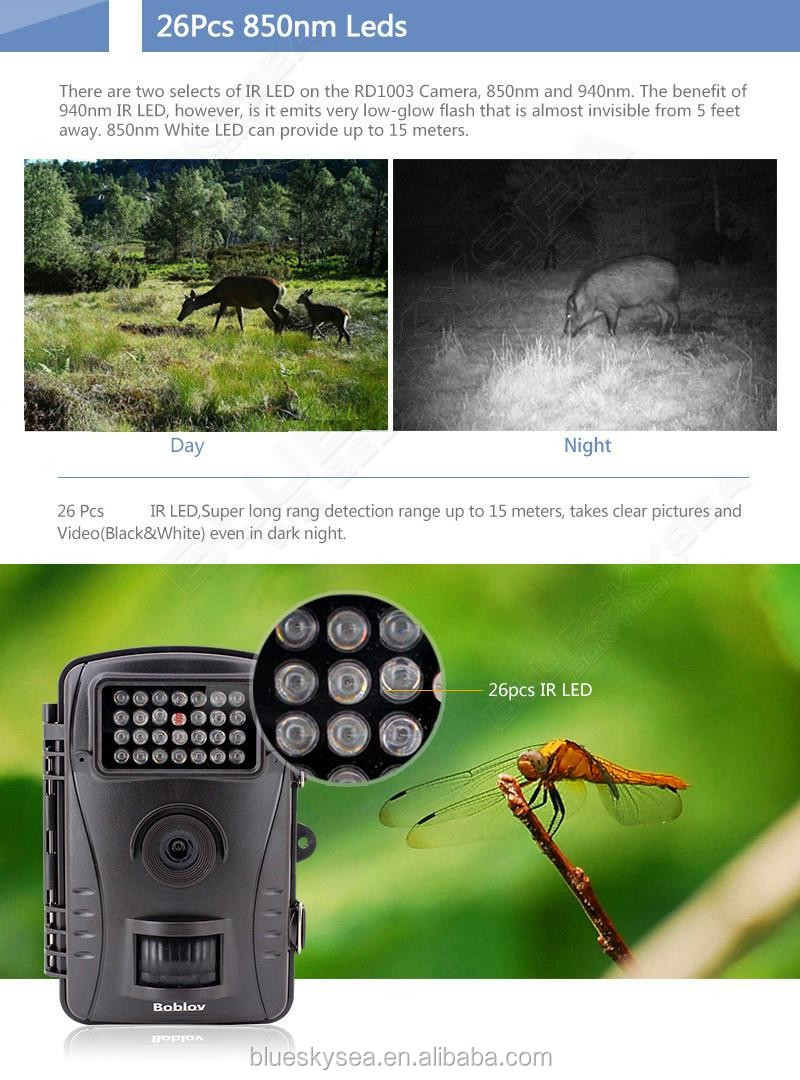 RD1003 8MP PIR Night Vision IR Game Hunting Trail Security HD Camera Cam DVR