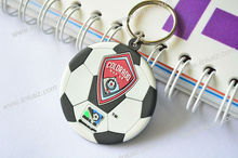 2d pvc football keychain for promotion