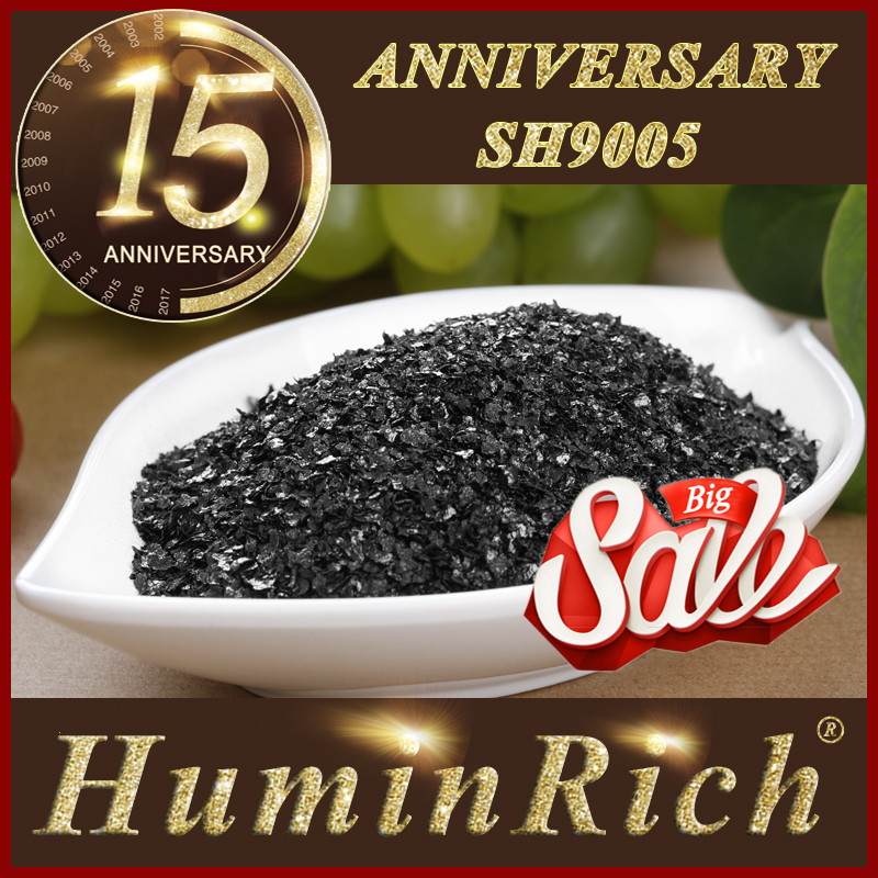 Huminrich High Grade K Fulvate Soluble Super Potassium Humate 98% Shiny Flakes