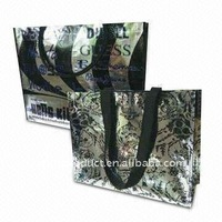 metallic nonwoven shopping tote bags