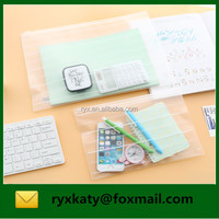 wholesale transparent stationery document holder bag with zip lock