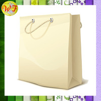 China Manufacturer White Kraft Paper Bag With Handles Shopping Packaging