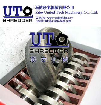 waste tire shredder/ rubber/Double Shaft Shredder/ Twin Shaft Shredder/ Two Rollers Shredder/ Plastic Shredder/ Tyre Shredder