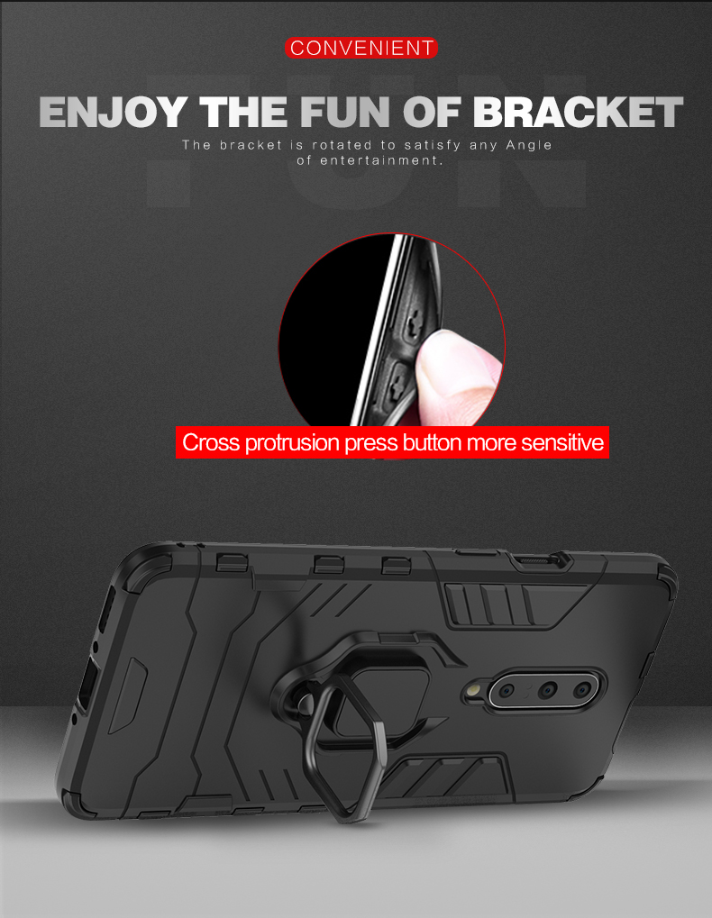 Luxury matel ring holder Car Magnetic smart phone case for Oneplus 7Pro magnetic cover